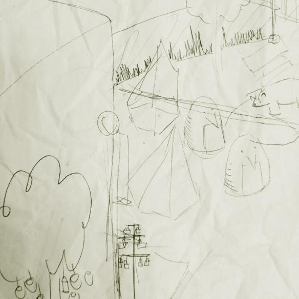 northern lights lantern festival in fernie - site layout sketch