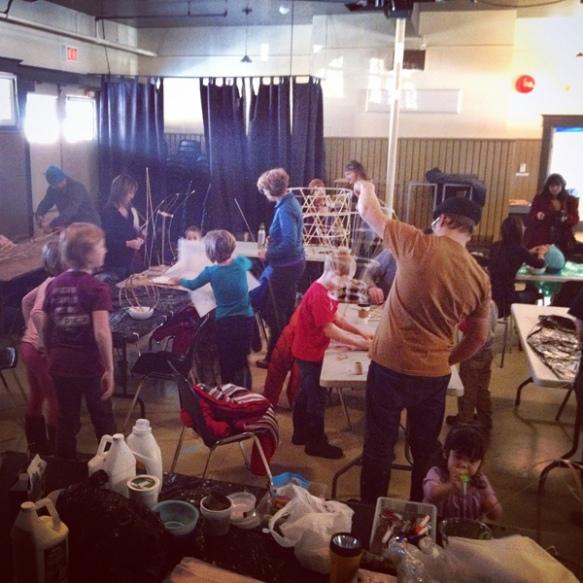 lantern festival community build at the arts station