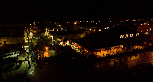 Fernie Lantern Festival - from above - drone photograph