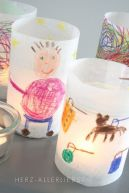 Kids Craft Lantern - Paper and a jar