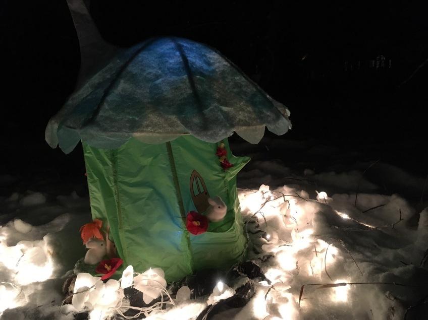 Into The Woods - Fernie Lantern Festival 2016 - fairy homes